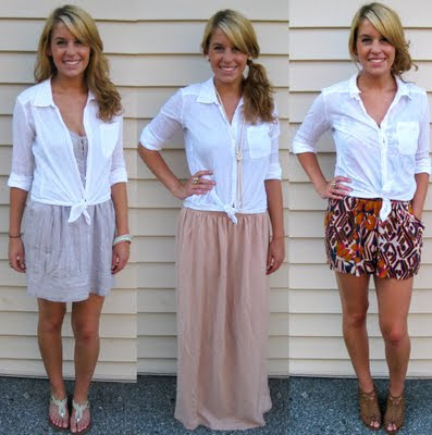 Ways to Wear: Sheer Button Down Shirt