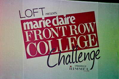 Marie Claire Front Row Challenge At Delaware!
