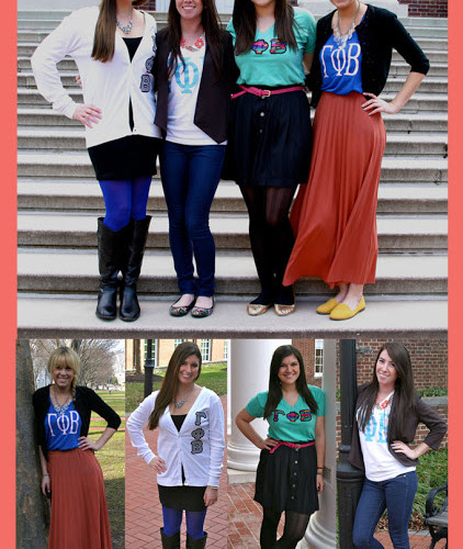 Ways To Wear : Sorority Letters