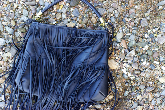 black fringe bag h&m