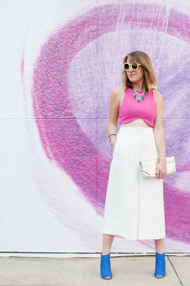 boston fashion blogger, white culottes, how to wear, crop top, summer outfit