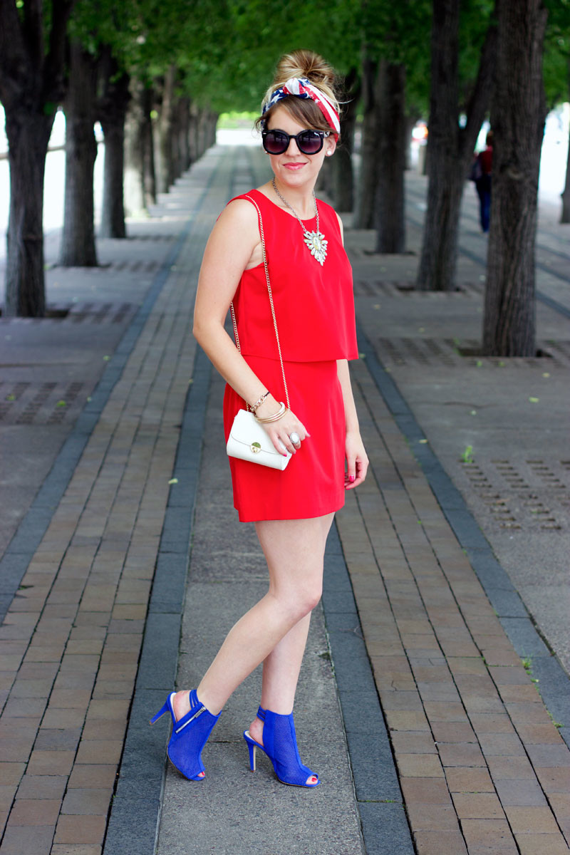dressy 4th of july outfit, 4th of july dress, red white and blue outfit