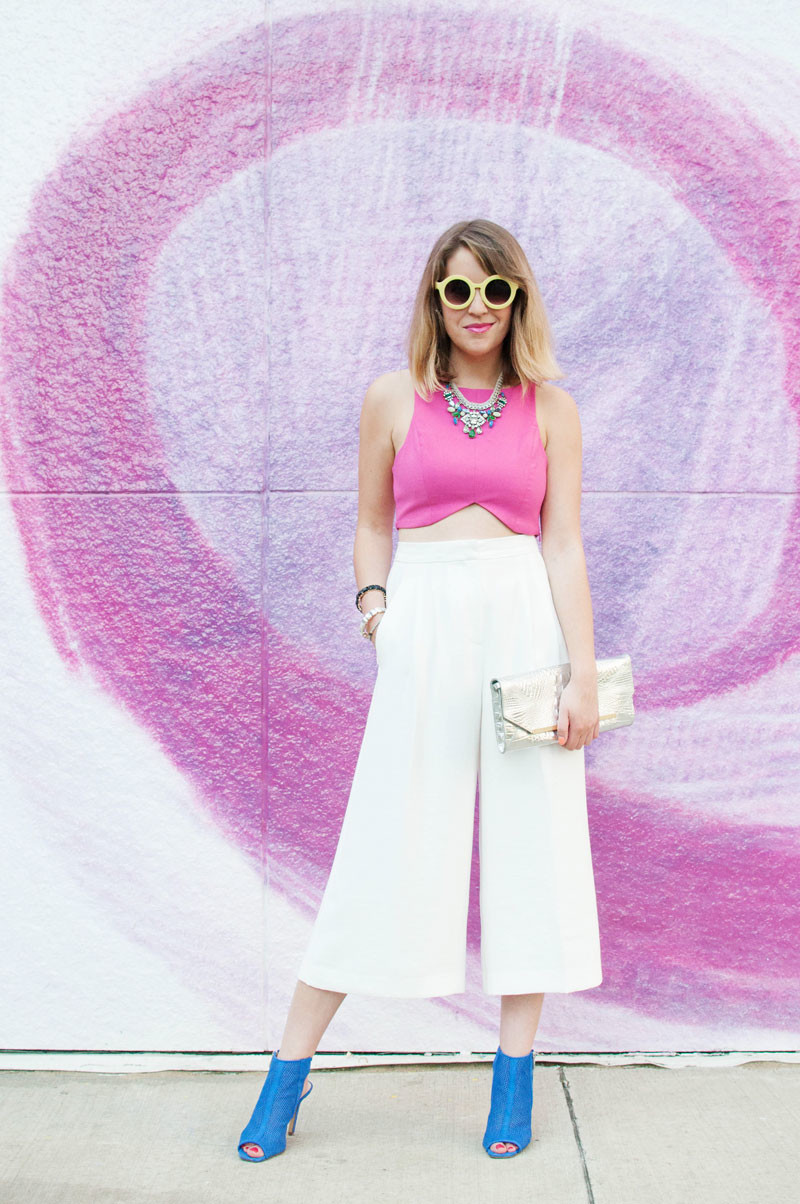 white culottes with crop top, style tab, boston fashion blogger, summer outfit