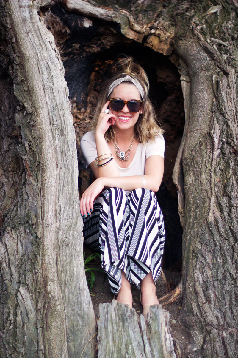 style tab, summer outfit, striped pants