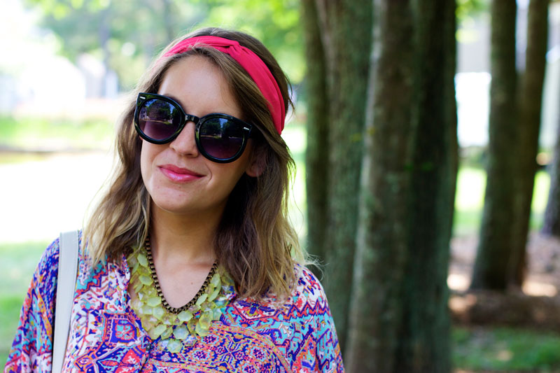 how to wear a summer headband