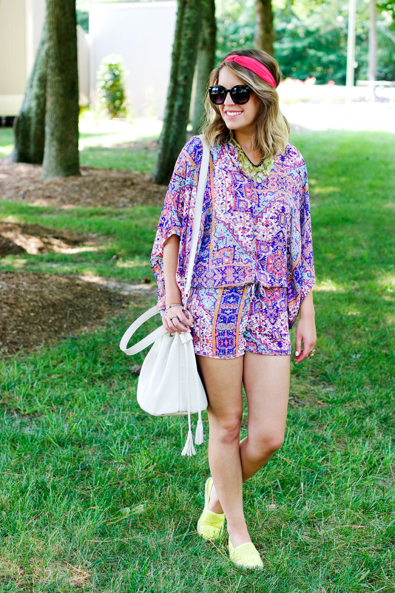 summer printed romper, boston fashion blogger