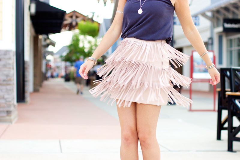 twirling fringe skirt