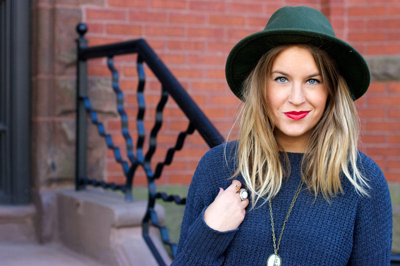 Olive wide brim fedora | Boston style blogger