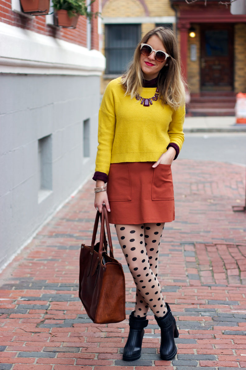 Mod pocket skirt for fall