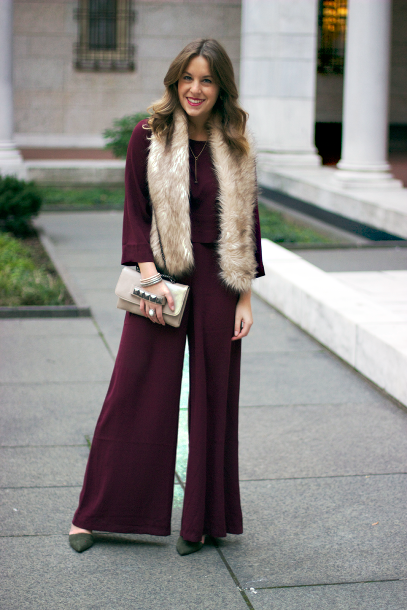 Wide leg pants for winter