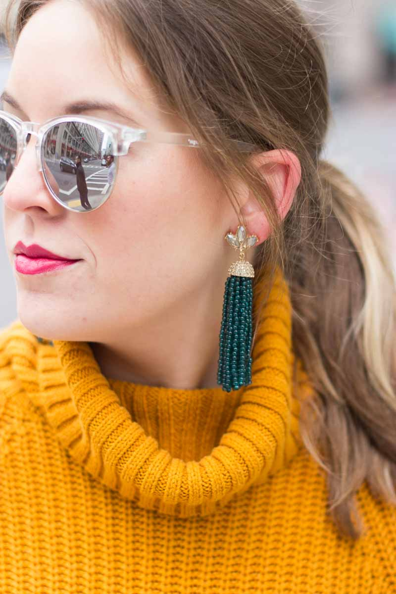 Baublebar tassel earrings - Winter White Culottes