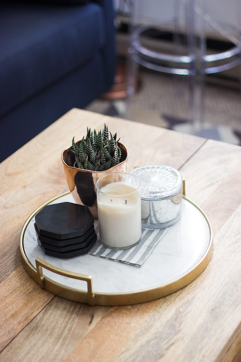marble coffee table tray
