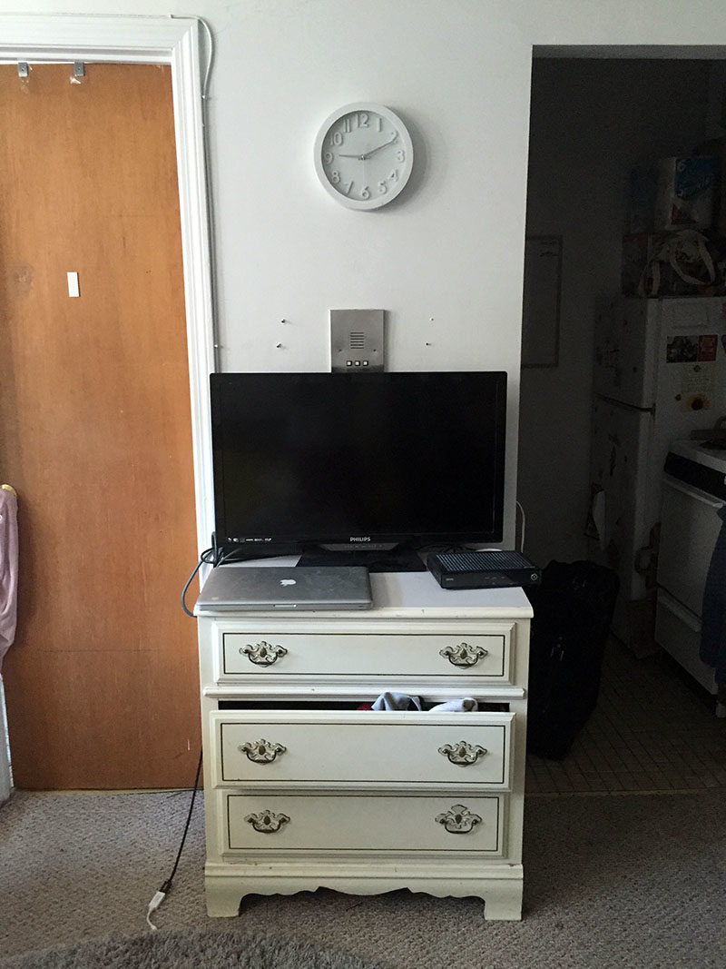 tv stand before