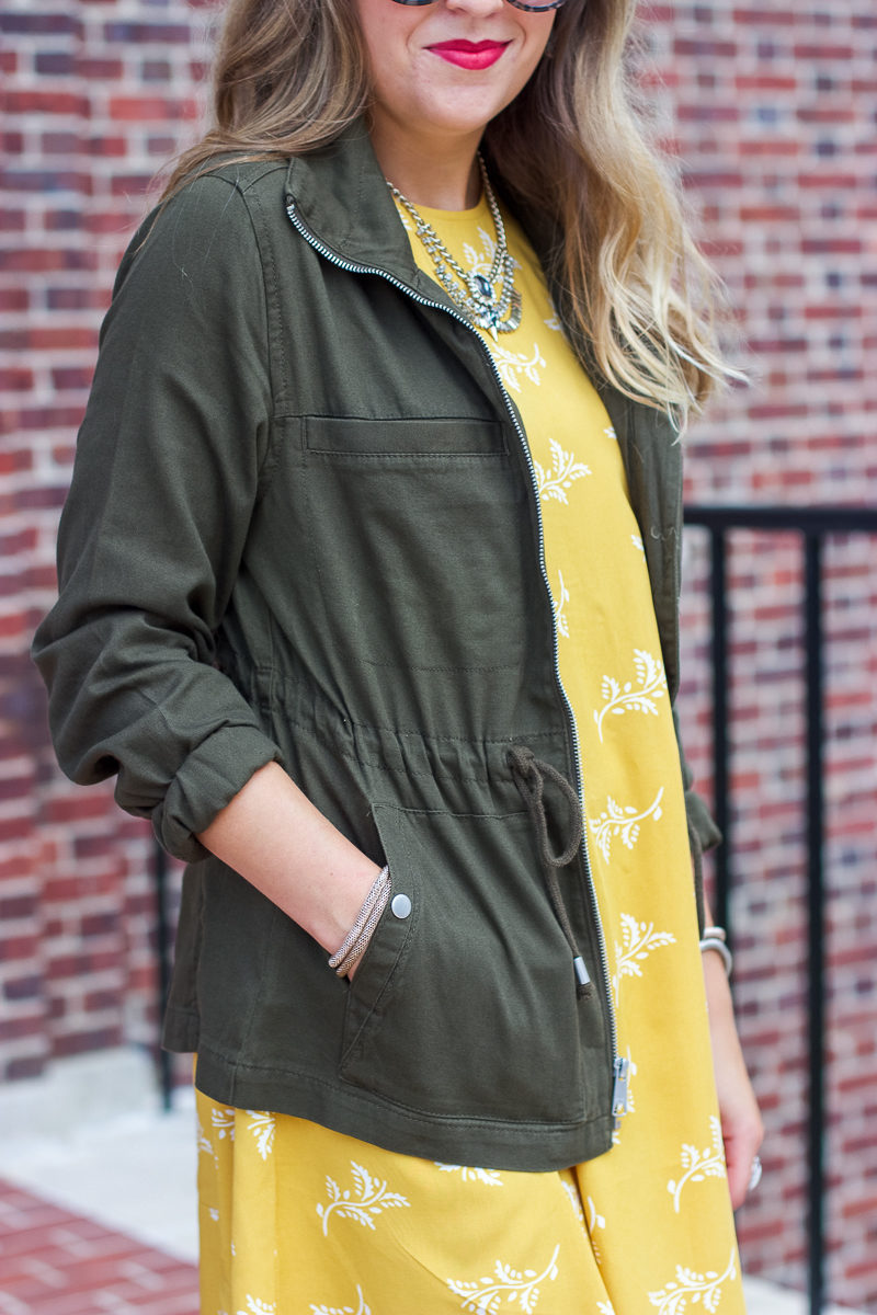 Olive fall jacket from Old Navy