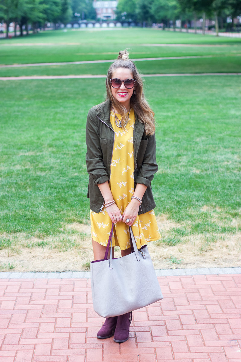 How to transition summer dress to fall old navy
