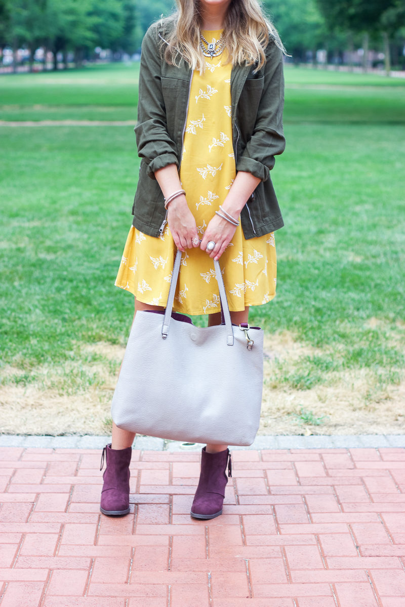 Mustard swing dress from Old Navy