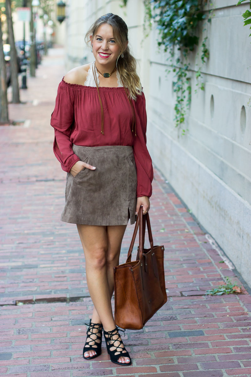 How to wear the off-the-shoulder-trend for fall